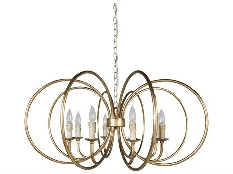 Gabby Alta Antique Gold Eight-Light 37'' Wide Chandelier