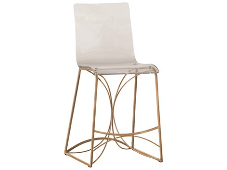 Gabby Angela Antique Gold & Clear Acrylic Counter Stool GASCH151130