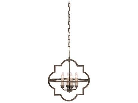 Gabby Athena Black Rust Four-Light 18'' Wide Mini Chandelier GASCH550450