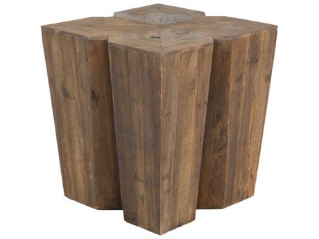 Gabby August Aged Pine 20'' Wide Square End Table GASCH153880