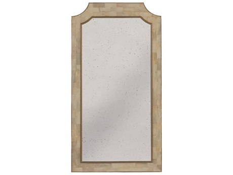 Gabby Barrett White Faux Horn with Antique Gold 30''W x 58''H Rectangular Floor Mirror GASCH270165