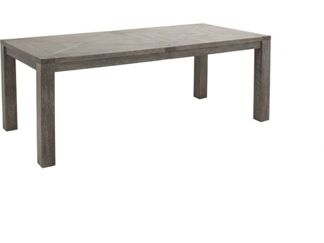 Gabby Beckett Dark Gray Cerused Oak & Hammered Dark Bronze 84''W x 39''D Rectangular Dining Table