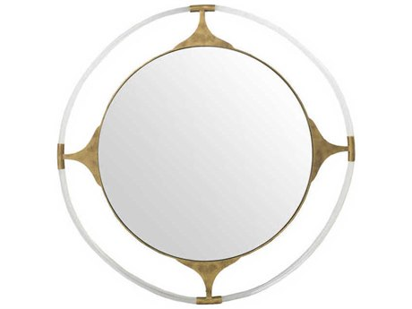 Gabby Callisto Gilded Gold & Clear Acrylic 41'' Wide Round Wall Mirror GASCH158195