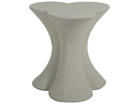 Gabby Home Carlin Textured Misty White 24'' Wide End Table