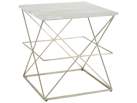 Gabby Casper Feather Green Marble & Champagne 22'' Wide Square End Table GASCH156115