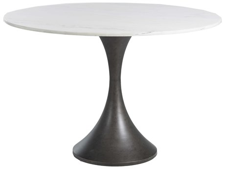 Gabby Cortez White Marble 48'' Wide Round Dining Table GASCH157255