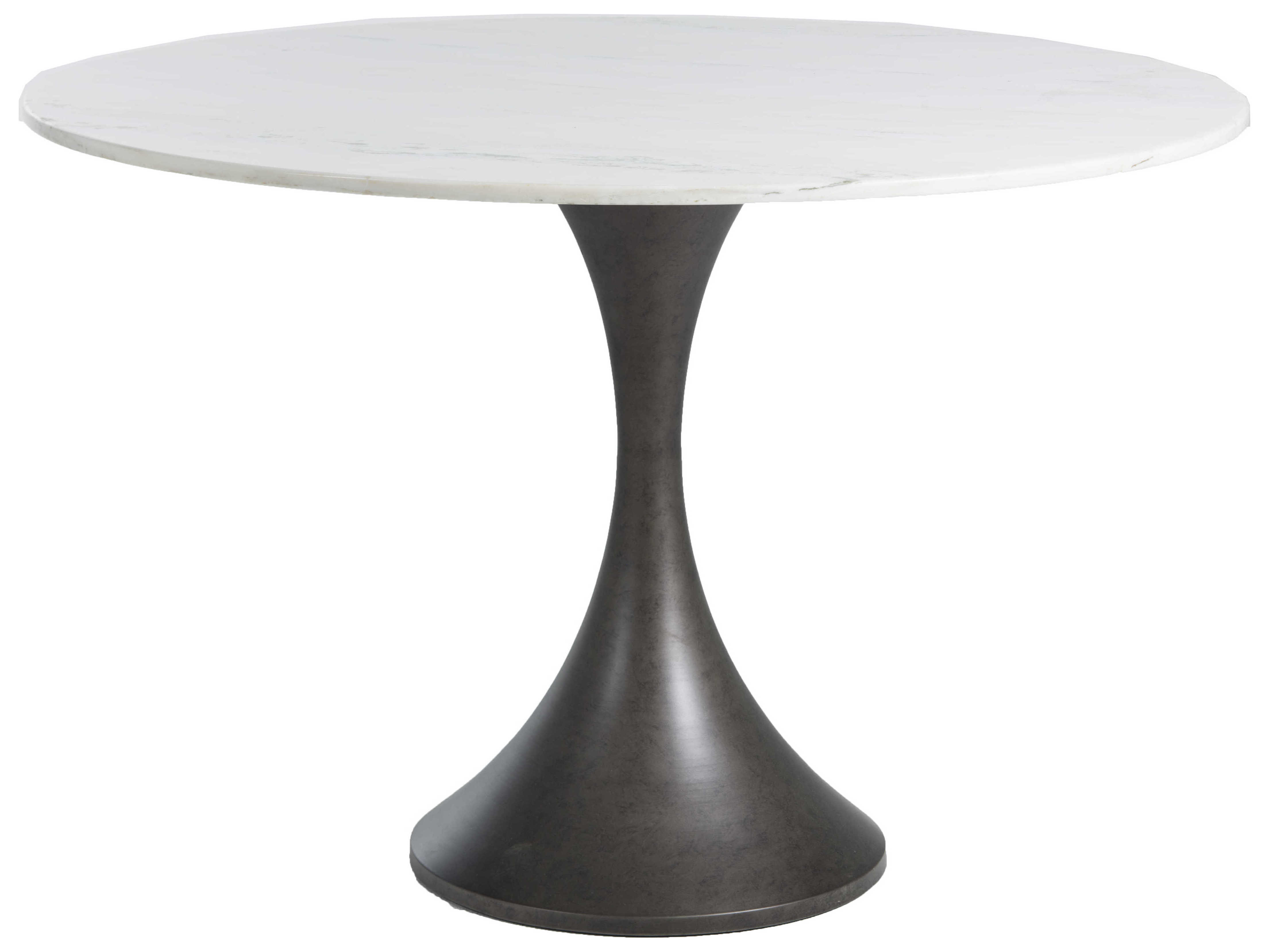 Gabby Cortez White Marble 9'' Wide Round Dining Table
