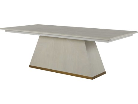 Gabby Home Cerused White / Gold 92'' Wide Rectangular Ferris Dining Table