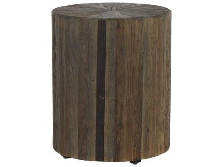 Gabby Home Dark Elm 19'' Wide Round Cyrano Drum Table