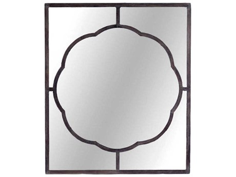 Gabby Dupont Black Iron 38''W x 42''H Rectangular Wall Mirror GASCH220220