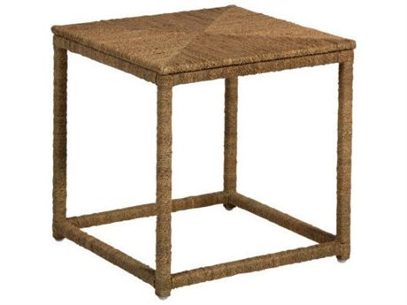 Gabby Home Natural Seagrass 18'' Wide Square Wells End Table