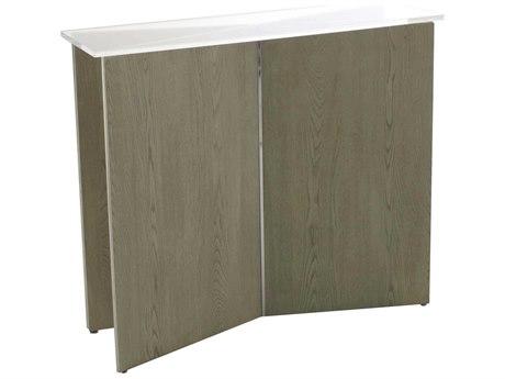 Gabby Ezra Clear Acrylic & Beige Washed Oak with Chrome 39''W x 12''D Rectangular Console Table GASCH158185