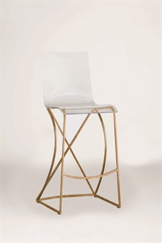 Gabby Johnson Antique Gold & Clear Acrylic Bar Stool GASCH151340