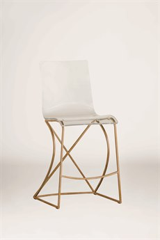 Gabby Johnson Antique Gold & Clear Acrylic Counter Stool GASCH151135