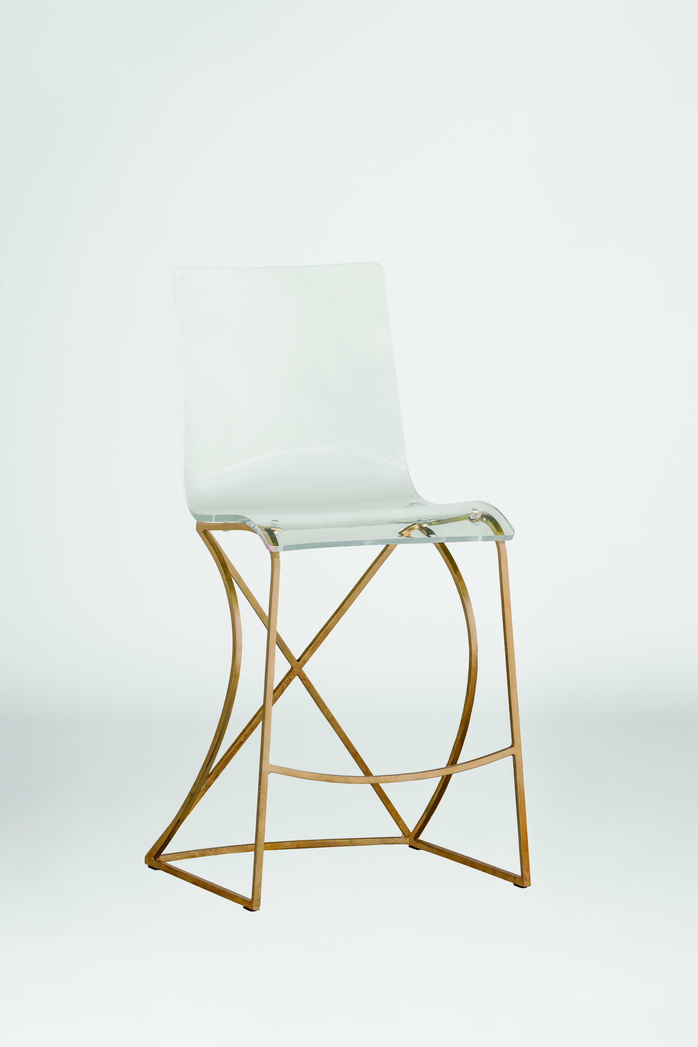 Gabby Johnson Antique Gold Amp Clear Acrylic Counter Stool