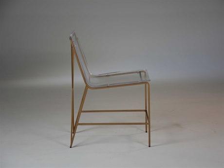 Gabby Johnson Antique Gold & Clear Acrylic Dining Side Chair GASCH155390