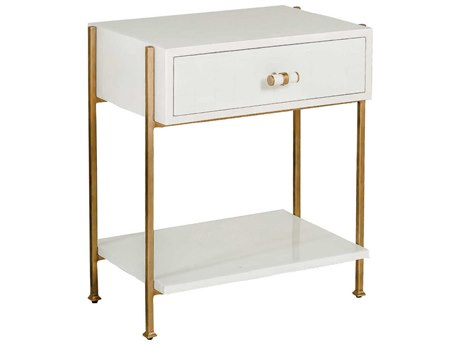 Gabby Jolene Faux Bone & Antique Gold 24''W x 18''D Rectangular Nightstand GASCH151325