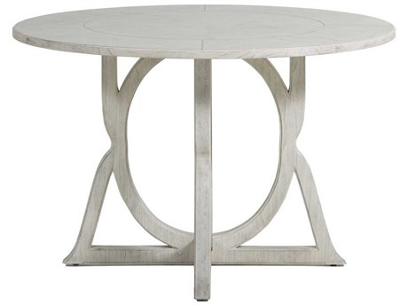 Gabby Home Kendleton Sesame White, Brass Inlay 48'' Wide Round Dining Table GASCH160235