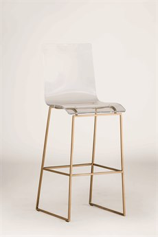 Gabby King Antique Gold & Clear Acrylic Bar Stool GASCH151345
