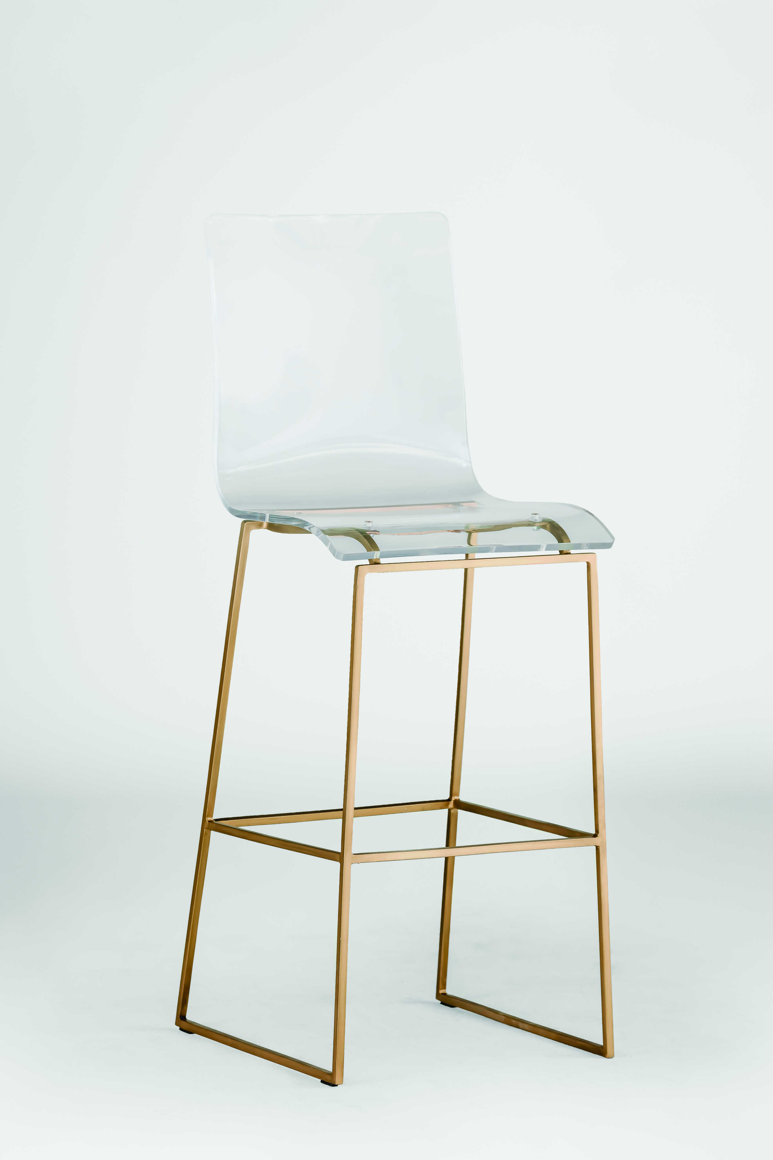 Gabby King Antique Gold Amp Clear Acrylic Bar Stool