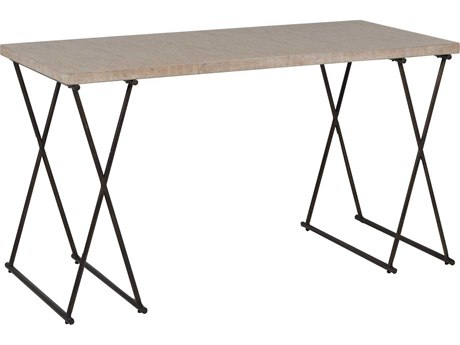 Gabby Home Lena White washed Cork, Brushed Copper 56'' Wide Rectangular Console Table