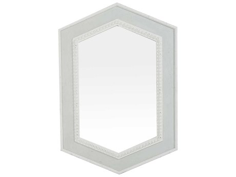 Gabby Home Lorena Soft Gray Blue, Antique White Wall Mirror GASCH160270