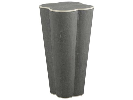 Gabby Home Margeaux Faux Gray Shagreen, White Bone 18'' Wide End Table GASCH159130