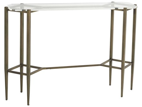 Gabby Home Micah Clear Acrylic, Brushed Brass 49'' Wide Octagon Console Table GASCH160290