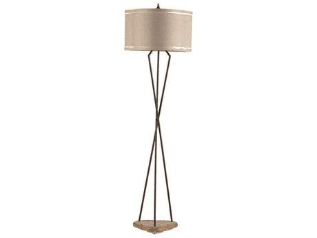 Gabby Miranda Rusted Iron with Autumn Brown Floor Lamp GASCH240360