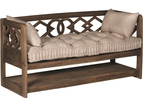 Gabby Modena Natural Mindy & Beige Linen Tufted Wooden Bench GASCH550390