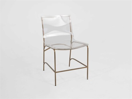 Gabby Penelope Antique Gold & Clear Acrylic Dining Side Chair GASCH153000