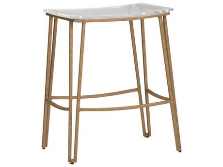 Gabby Pierce Antique Gold & Clear Acrylic Counter Stool GASCH155410