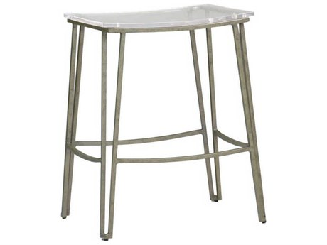 Gabby Pierce Clear Acrylic & Antique Silver Counter Stool GASCH155570