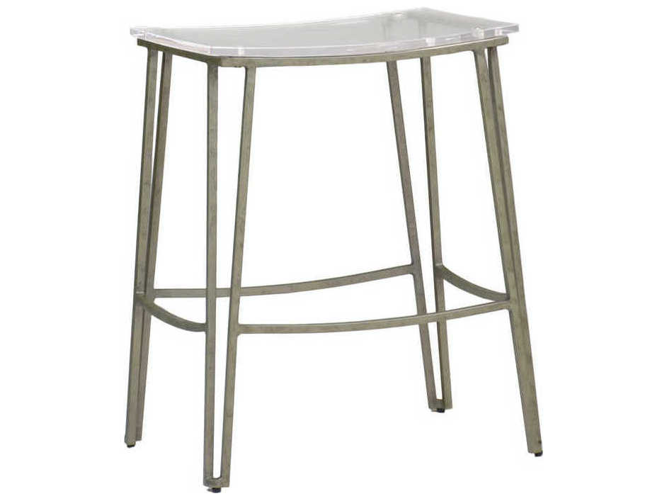 Marvelous Gabby Pierce Clear Acrylic Antique Silver Counter Stool Squirreltailoven Fun Painted Chair Ideas Images Squirreltailovenorg