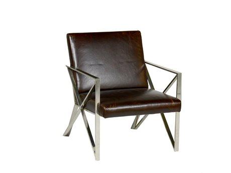 Gabby Rockwell S501 Ashford Chocolate & Chrome Accent Chair GASCH155380