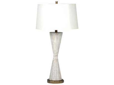 Gabby Roman Distressed White with Antique Gold Buffet Lamp