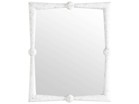 Gabby Scarlet Antique White 40''W x 48''H Rectangular Wall Mirror