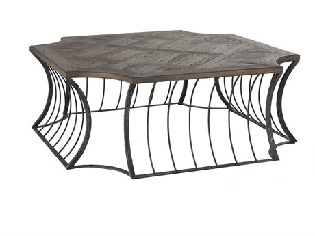Gabby Seth Dark Elm & Black 48'' Wide Square Coffee Table