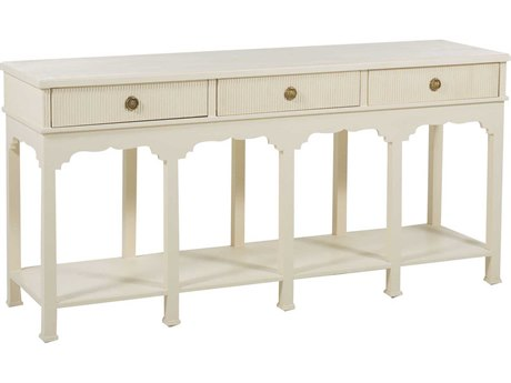 Gabby Home Shea Antique Ivory Cream, Sage Gray, Gold Hardware 66'' Wide Rectangular Console Table GASCH160365