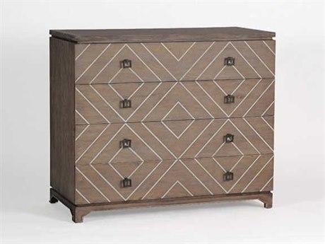 Gabby Home Natural Oak & White Faux-bone Four-Drawer Terrance Single Dresser