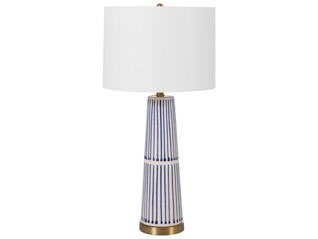 Gabby Sophie Navy and White with Antique Brass Buffet Lamp
