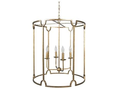Gabby Stella Antique Gold Four-Light 20'' Wide Chandelier GASCH153720
