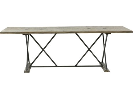 Gabby Home Taro Dark Charcoal Oak / Aged Black 92'' Wide Rectangular Dining Table GASCH153920
