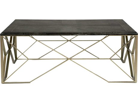 Gabby Theodore Dark Gray Cerused Oak & Light Bronze 48'' Wide Square Coffee Table GASCH155285