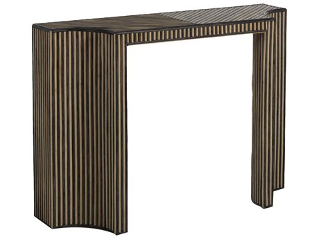 Gabby Home Trent Dark gray rattan, Whitewashed natural rattan 48'' Wide Hexagon Console Table