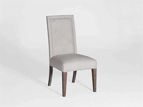 Gabby Verona Burnished Oak & Sunbrella Linen Dove Dining Side Chair (Set of 2) GASCH573S300F03