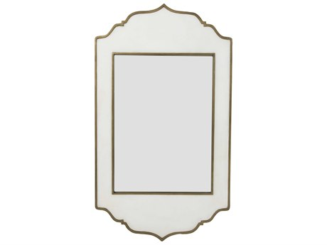 Gabby Villa White Resin & Brushed Brass 27''W x 47''H Wall Mirror GASCH153330