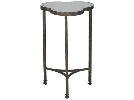 Gabby Walter Antique Eglomise Mirror & Textured Black 16'' Wide End Table