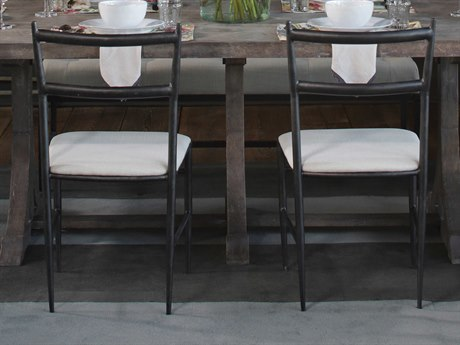 Gabby Ward Antique Pewter & Soft Linen Dining Side Chair (Set of 2)
