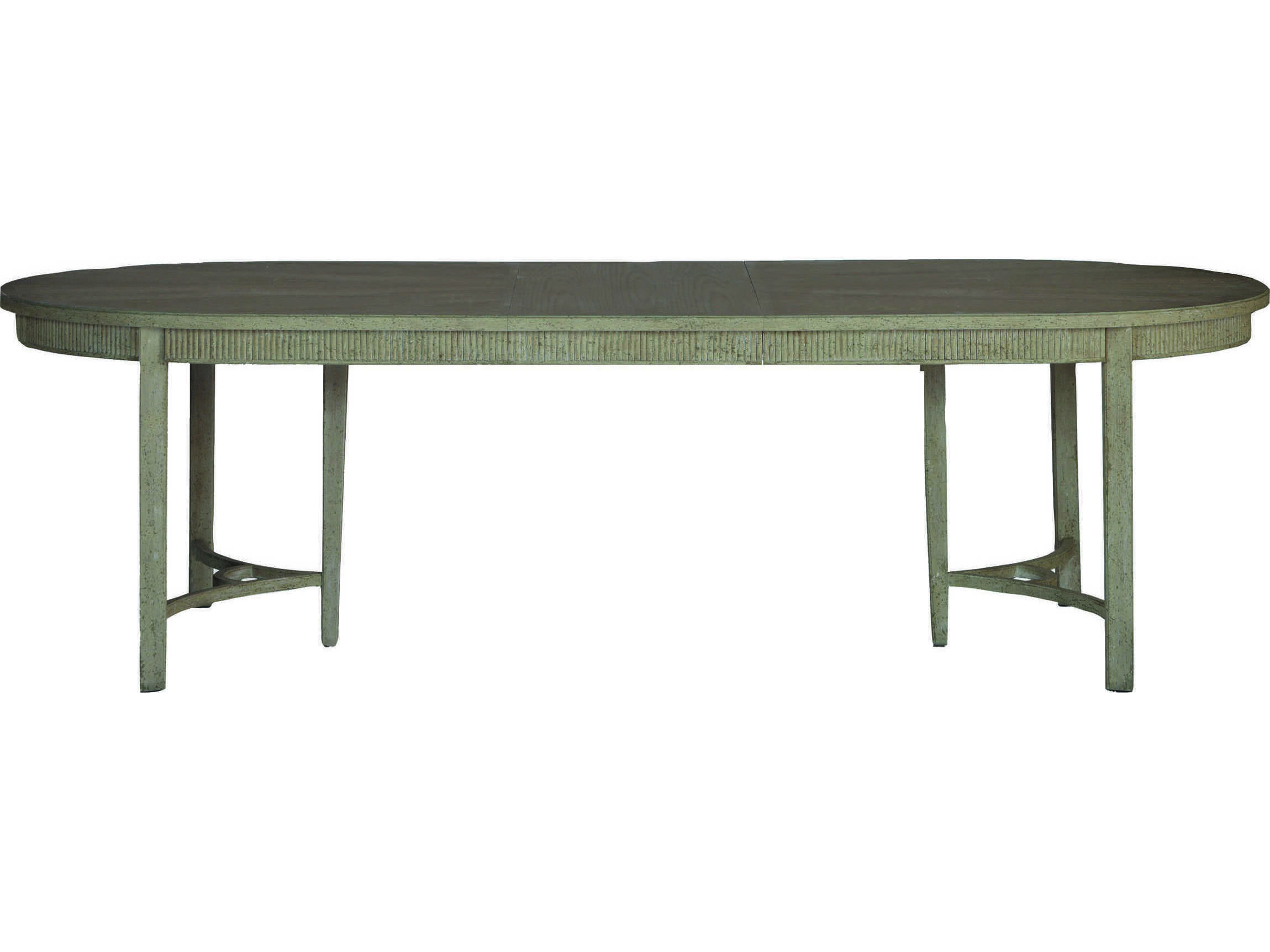 Gabby Whitlock Natural Cerused Oak Distressed Cream 106 W X 44 D Oval Dining Table